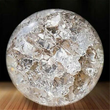 Fengshui Glass Crystal Ball  Water Aquarium Fountain Spinning Decor Gift 50mm