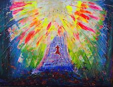 STAIRWAY TO HEAVEN - YOUTUBE Original Art Abstract Rainbow Large Contemporary