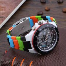 Waterproof Men's Dual Time Zones Analog Digital Luminous Wrist Watch LED light