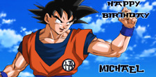 Birthday banner Personalized 4ft x 2 ft Goku