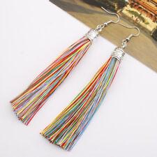 2018 Lady Fashion Earrings Jewelry Long Tassel Fringe Boho Hook Drop Dangle Eur