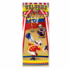 Welcome CIRCUS TENT DOOR Wall COVER Carnival Party Decoration