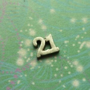 Lucky 21 Number Charm Pendant - Small - Charm for Glass Locket