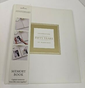 50th Anniversary Memory Book for 50th Wedding Anniversary Album Scrapbook