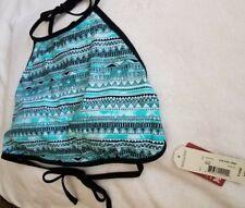 NWT ARIZONA JEANS HALTER Swimsuit Bathing Suit Sz XL Teal/Black/White MSRP $32