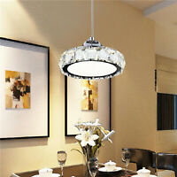 Modern Crystal Chandelier LED Crystal Pendant Hanging Lamp Ceiling Light Fixture