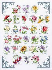 Anchor-puntada cruzada contada Kit-Alfabeto Floral-ACS20
