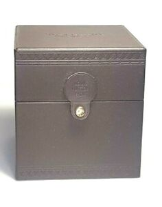 Authentic LOUIS VUITTON Watch Box Case Brown Leather #S308001