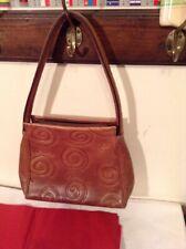 Lovely German Designer Mutton Tan Retro Leather Shoulder Bag