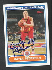 Autographed Kayla Pedersen 2007 McDonalds Card #KP Stanford Connecticut Sun WNBA