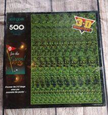 SPRINGBOK 500 piece Puzzle Go for the Green Golf Stereograms 3D 1994 NIB Expert