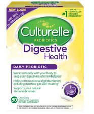 Culturelle Probiotics Digestive Health - 80 Vegetarian Capsules Fresh 11/2019