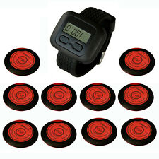 SINGCALL. Wireless hotel calling service systems 10 buttons and 1 Watch Receiver