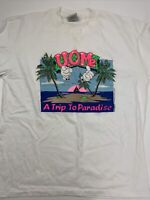 1988 The COUCH TRIP Dan Aykroyd Screen Stars Single Stitch Vintage Ringer T Shirt  Size Large