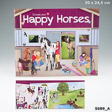 Bastelbuch Kreativbuch Pferde / Bauernhof Beschäftigungsbuch mit Stickern