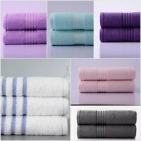 Hotel Quality Soft Terry Towel 100% Cotton Bath Sheets Towel Bathroom Pack Of 2