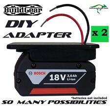 2 x DIY Project 18v Bosch Battery Adapter