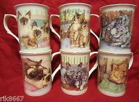 Set Of 6 Pillowtalk Fine Bone China Mugs Cups Beakers
