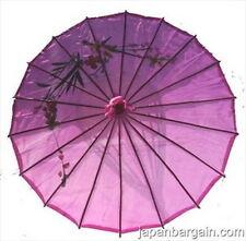 Japanese Chinese Umbrella Parasol 32in Purple 156-10 S-2163  AU
