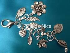 Bag Charm Key Chain Ring Clasp FLOWER GARDEN Dangle Fashion Jewellery