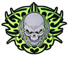 """JUMBO TRIBAL SKULL HEAD MOTORCYCLE PATCH JBP30 jacket biker 11 1/2"""" x 9"""""""