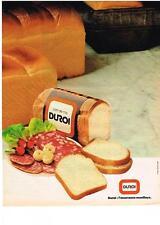 PUBLICITE ADVERTISING   1981   DUROI   PAIN DE MIE