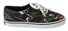 DOLCE & GABBANA Sneakers Casual Black Canvas Volcano Shoes EU41.5/US8.5