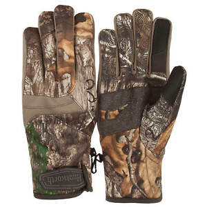 Huntworth Realtree Edge Camo Adult Mid-weight Focus Microban Gloves: M/L - L/XL