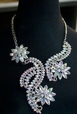 CELEBRITY ZARA INSPIRED CRYSTAL COLLAR STATEMENT NECKLACE 16ins 41cms UK SELLER