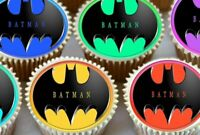 24 X BATMAN MIXED CUPCAKE TOPPERS EDIBLE PREMIUM RICE PAPER 3585