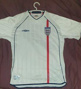 ENGLAND 2001 2003 HOME FOOTBALL SHIRT SOCCER JERSEY
