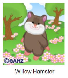 Webkinz Classic Willow Hamster *Code Only*