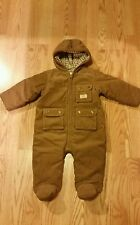 RALPH LAUREN Baby Boy Bunting Snowsuit Corduroy 9 Months Brown Adorable Quilted