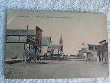 Vtg Postcard Almena, Wis Main Street West Of Almena Mercantile Company