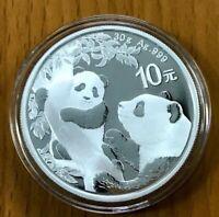China  2021  Panda  Silver 30g 10 Yuan Coin