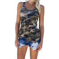 //71//Mode Femme-Décontracté-Camouflage-Haut Manche Chemise Femme-T-shirt Cadeau