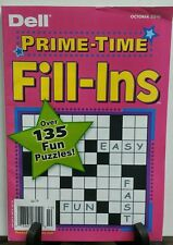 Dell Prime Time Fill Ins October 2016 135 Fun Puzzles FREE SHIPPING