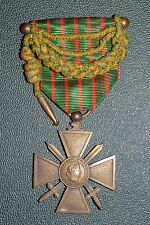 WW1 FRENCH ARMY CROIX DE GUERRE GALLANTRY MEDAL 1917 'CROSS OF WAR'