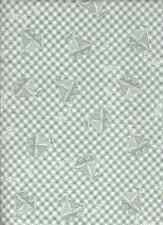 MINT GREEN WHITE CHECK SAILBOAT PULL ALONG TODDLERS TOY COTTON FLANNEL FABRIC