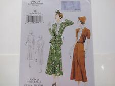 Vogue 8767 V8767, Vogue Vintage Model, Original 1938 Design Jacket/Dress Sz 8-14