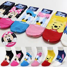 6 Pairs Disney Character Socks Womens Girls Big Kids Mickey Cute Cartoon Socks