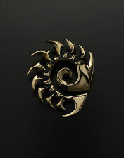 Zerg pendant inspired by StarCraft game made from bronze