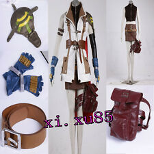 HOT Final Fantasy XIII Lightning Cosplay Costume Custom Made Full Set Unisex 7