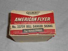 American Flyer 23759 Bell Danger Signal in OB