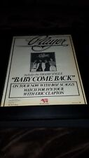 Player Baby Come Back Boz Scaggs Tour Rare Original Promo Poster Ad Framed!