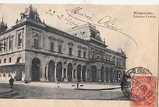 B81302 estacion central railway station montevideo  uruguay front/back image