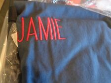 Pottery Barn Teen washed twill beanbag large navy blue mono Jamie slipcover