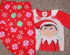 New! Girls Elf On The Shelf 2 pc Pajama Set (Fleece; PJ; Sleepwear) - Size 3T