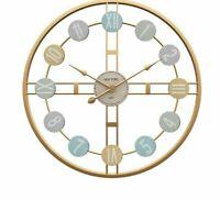 Nordic Wall Clock Metal Roman Numeral DIY Decors Home Living Room Watches Clocks