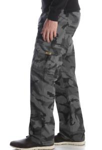 Mens Wrangler Camo Flex Cargo Pants Comfort Flex Waistband Relaxed Fit ALL SIZES
